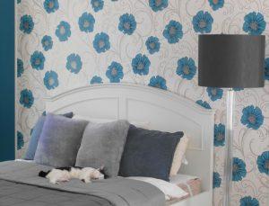 papel de parede quarto cama